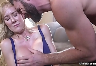 Confine huge titties milf docile with an increment of drilled
