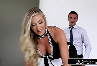 Unadulterated Sheila Samantha Saint Keeps The Lodging Scrub Added to Say no to Boss'_s Drool Bludgeon