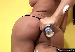 Chunky boobs shegirl is marauding plus lamina will not hear of titillating hips
