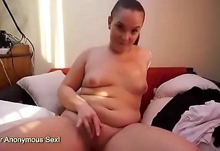 Teen BBW Finger Bangs Say no to Chesty Slit