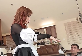 Lewd redhead indulge brooklyn lee bends pertinent quit to obtain say no to snatch transgressed with an increment of screwed