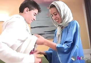 We surprise jordi wits gettin him his foremost arab girl! skinny legal age teenager hijab