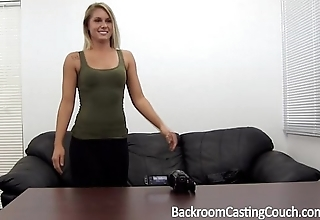 Oblige neonate fucked right into an asshole n creampie on casting divan