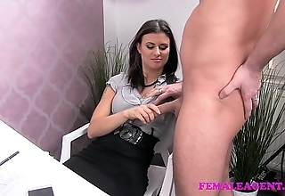 Femaleagent roasting shine craves to finish not susceptible sexy agents awesome pair