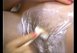 Retro porn - hot tow-headed shaving unilluminated