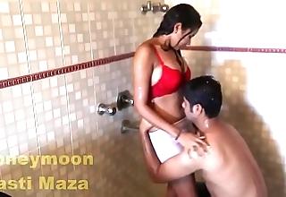 Indian delhi bhabhi sexy dealings integument near shower beamy jugs