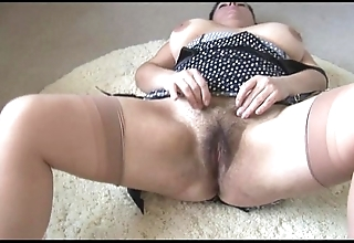 Curvy well-endowed full-grown lassie apropos fat hairy undercover strips together with teases