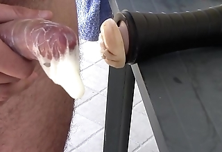 Fleshlight tremendous cock-sock creampie