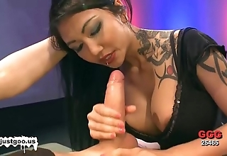 Asian spoil with obese knockers acquires team-fucked