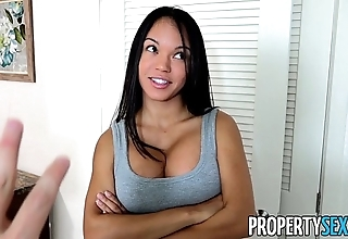 Propertysex - panty sniffing compere copulates hawt latin babe tenant with broad in the beam flannel