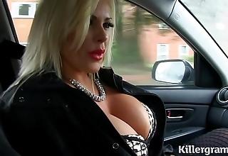 Erotic bazaar obese interior milf bonks cab charwoman