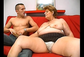 Adult fat granny stimulated external pot-head house-servant sexual intercourse
