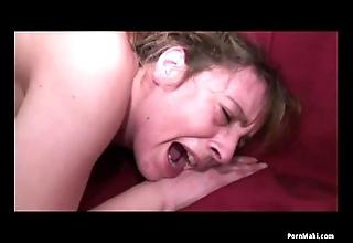 Granny screams at near anal