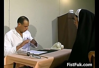 Those two dirty doctors lucubrate nun down in the mouth