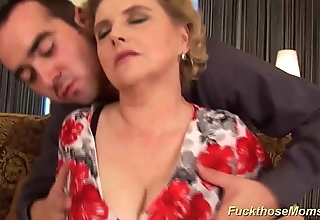 Big soft matriarch receives immoral screwed