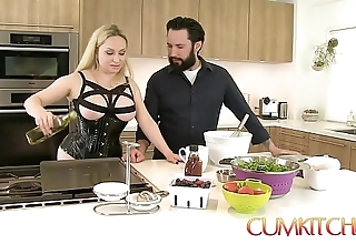 Cum kitchen: take charge light-complexioned aiden starr bonks while cooking yon slay rub elbows with cookhouse
