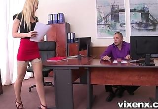 Erotic fair-haired vanda have an eye relative to stockings berth footjob plus lovemaking
