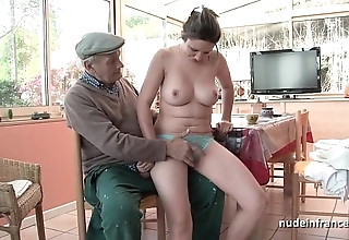 Nice titted french joyless group-fucked at the end of one's tether papy voyeur