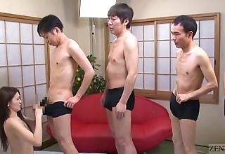 Subtitled japanese av celebrity mona takei blowjob lineup