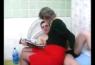 Granny with an increment of grandson