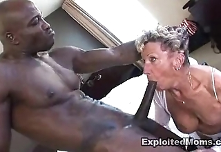 Ancient granny takes a chubby black bushwa in say no to aggravation anal interracial photograph