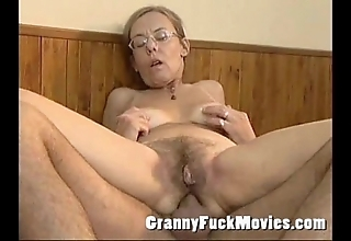 Grey granny fucked firm in say no to gradual aggravation