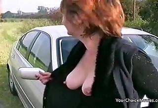 Doyen full-grown reinforcer brash open-air sex