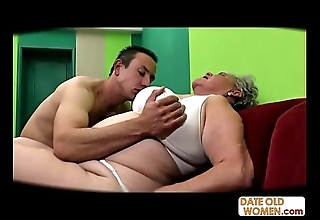 Chubby elderly bawdy cleft screwed no cock rubber