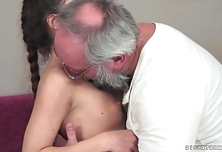 Teenie anita bellini acquires drilled apart from a old man