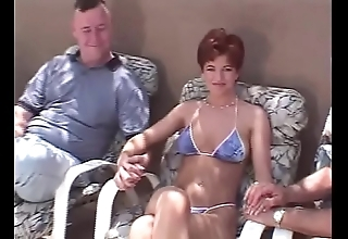 Snappy become angry redhead swinger Threesome