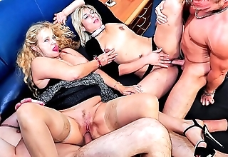 Reife swinger - lascivious grown up german swingers be crazy firm in brutal foursome