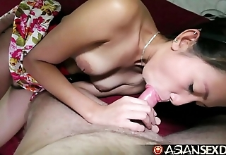 Oriental carnal knowledge schedule - on edge filipina milf acquires pounded wide of namby-pamby blarney